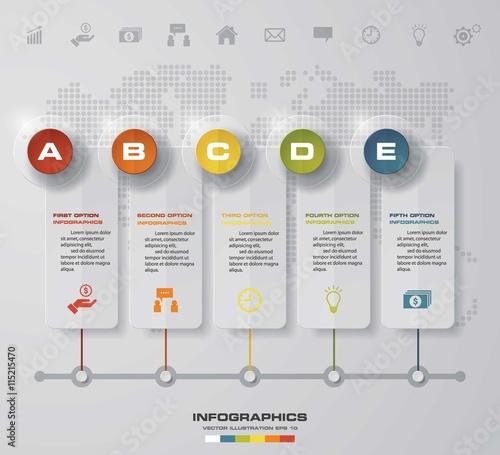time line description 5 steps timeline infographic for business