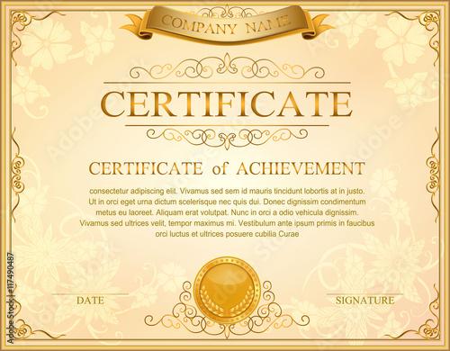 Vintage retro frame certificate background design template - Buy