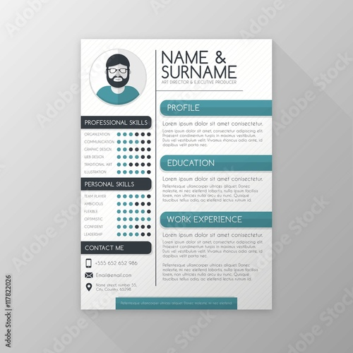 Art director resume template - Buy this stock vector and explore