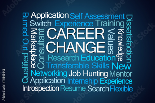 Career Change Word Cloud - Buy this stock illustration and explore