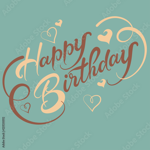 Happy birthday, letterhead - Buy this stock vector and explore
