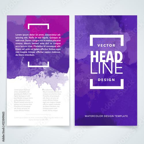 Violet Brochure design template vectorFlyers report business