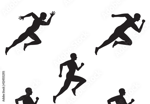 5 Running Person Silhouette Illustrations Buy this stock template