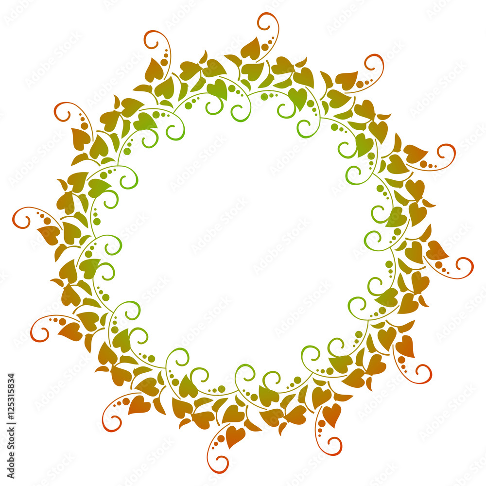 Rahmen Clipart Ecke Color Round Frame With Gradient Fill And Decorative Floral