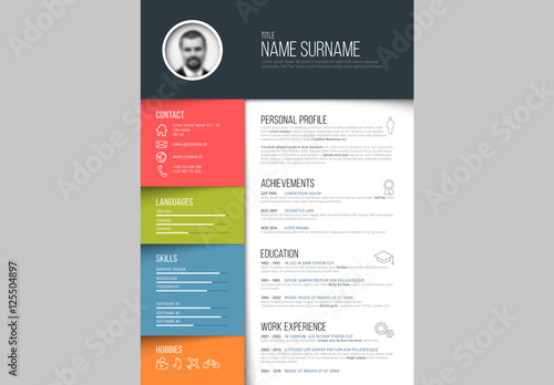 Resume Layout - Portrait 1 Buy this stock template and explore - layout for a resume
