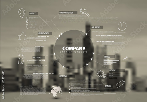 Company Profile Infographic Buy this stock template and explore