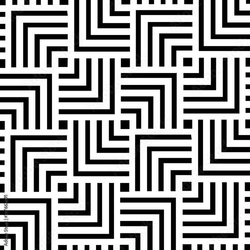 Black and white geometric pattern background design Abstract