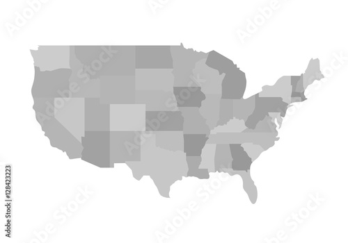 California outline map Blank similar USA map isolated on white