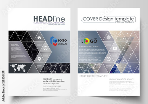 Templates for brochure, magazine, flyer or report Cover design