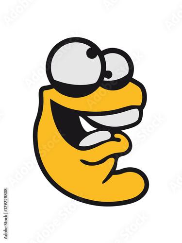 Confused worm head creep crazy comic cartoon face laugh crazy funny