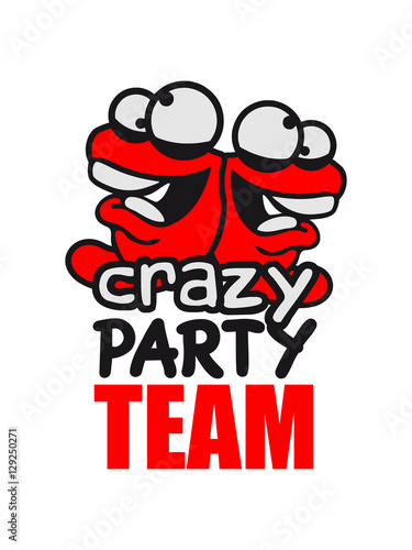 Team 2 friends party celebrate fun confused worm head creep crazy