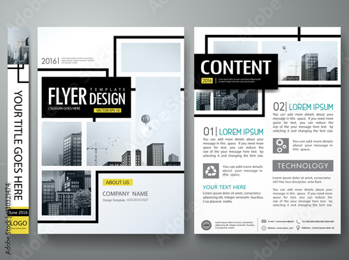 Portfolio design template vectorMinimal brochure report business