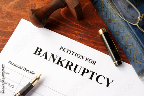 Petition for Bankruptcy on an office table - Buy this stock photo
