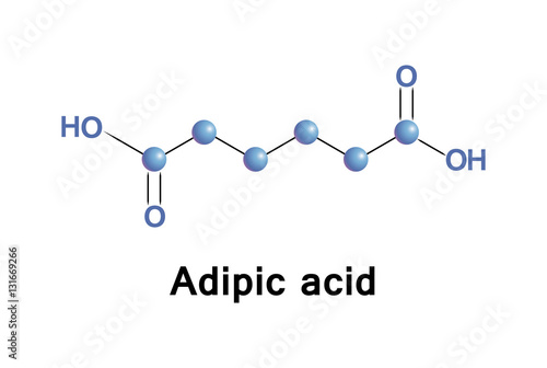 Adipic acid is the organic compound, this dicarboxylic acid produced