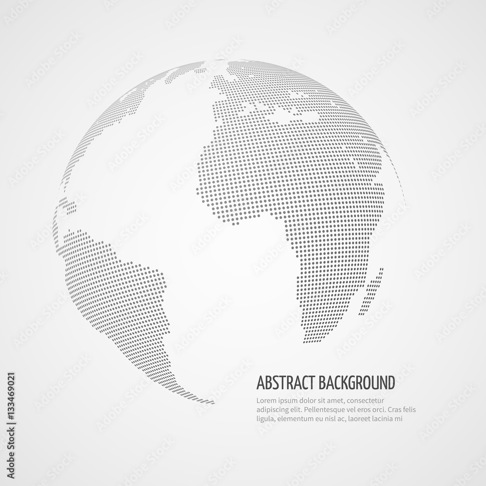 Wereldkaart Zwart Wit Canvas Foto Op Canvas Wereldkaart World Map Vector Infographics