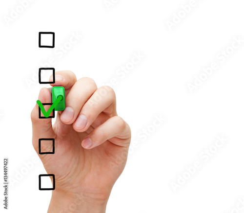 Blank Survey Checklist Concept - Buy this stock photo and explore