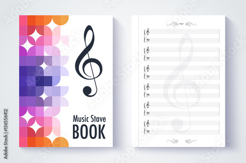 Music stave template, Blank stave note paper Blank music note p - music paper template