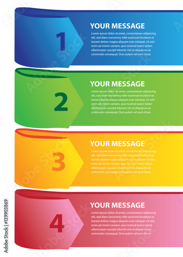Simple Page Layout design with Colorful Label Tags with Copy Space