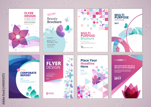 Beauty and wellness brochure cover design and flyer layout templates - flyer layout templates