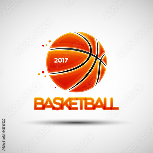 Basketball ball logo design template - Buy this stock vector and