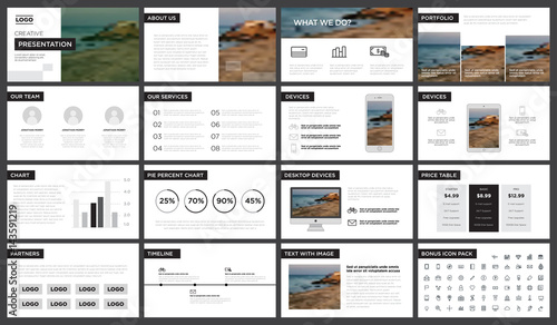 Minimal black and white presentation template You can use it