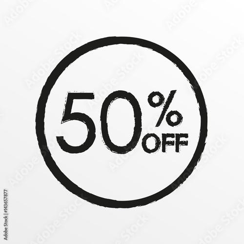 50 off Sale and discount price icon Sales tag design template - sale tag template