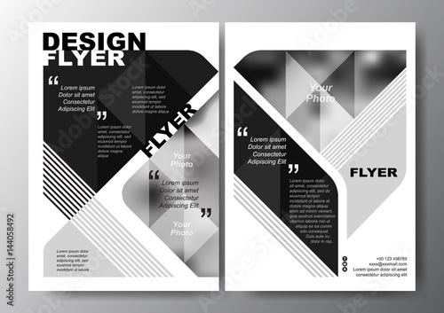 Black and White Minimal Modern Poster Brochure Flyer design Layout