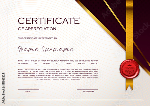 Best Adobe Stock Images Qualification Certificate Of Appreciation Geometrical