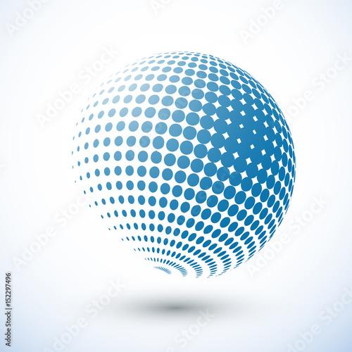 Halftone Sphere Halftone Design Element Abstract Globe Logo