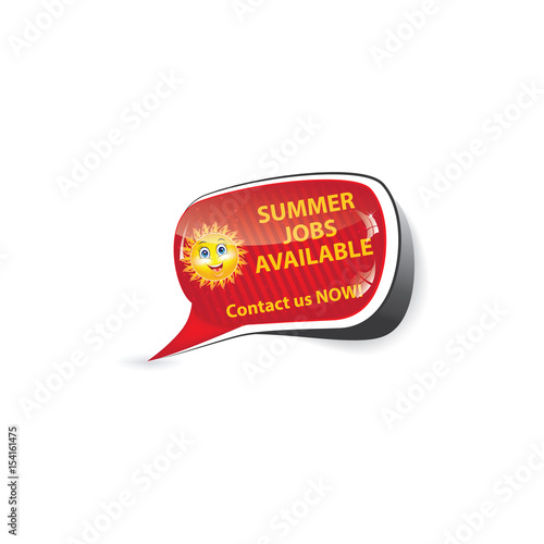 Summer Jobs Apply Now Label for companies / Employers that are