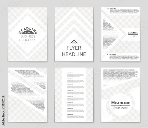 Abstract vector layout background set For art template design, list