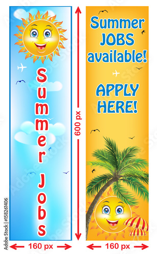 Summer Jobs offer - banners Web banners for companies / Employers