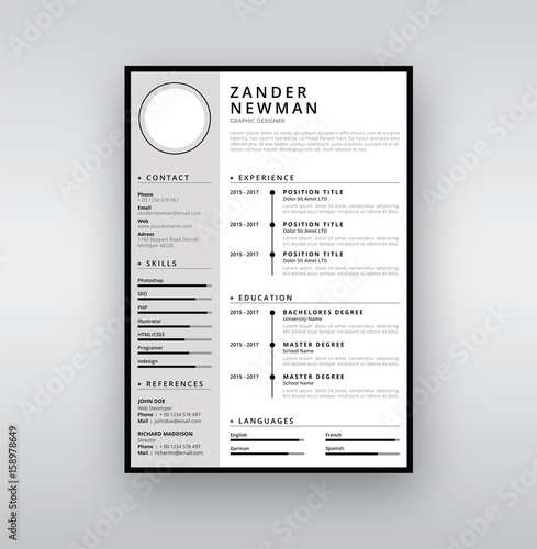 CV Resume Curriculum Vitae - Buy this stock vector and explore