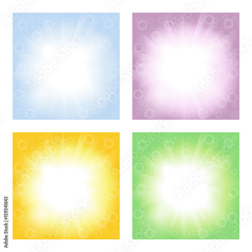 set of abstract backgrounds for business with space for messages