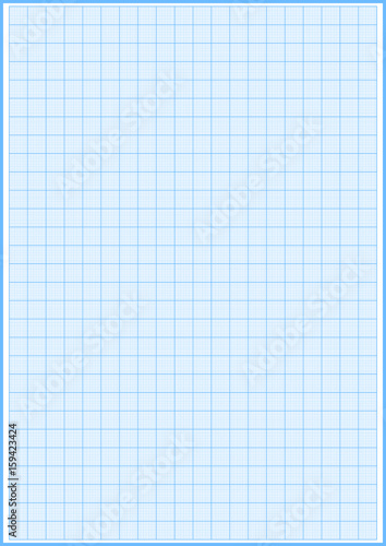 Graph paper with grid cyan color on a4 sheet size vector - Buy this