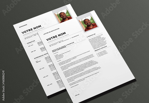 cv et lettre de motivation moderne