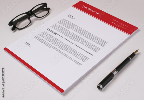 Business Letterhead Layout with Red Accents 1 Buy this stock