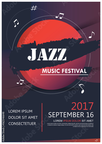 Music party jazz band poster jazz club fun music Musical event