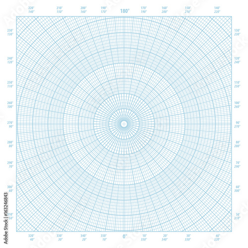 Polar coordinate circular grid graph paper background - Buy this