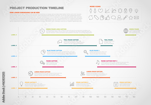 Horizontal Timeline Chart Infographic 1 Buy this stock template and
