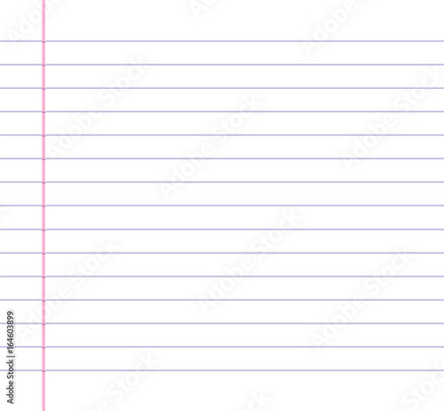 Lined or ruled paper background with blue horizontal lines and a red - line paper background
