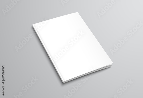 Template of white blank brochure on gray background - Buy this - blank brochure