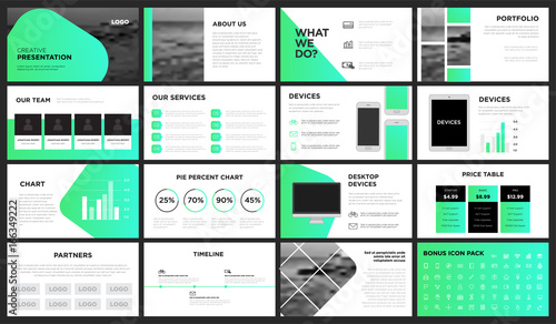 Modern Green Gradient Presentation Template You can use it