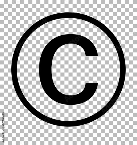 copyright symbol on transparent background copyright sign