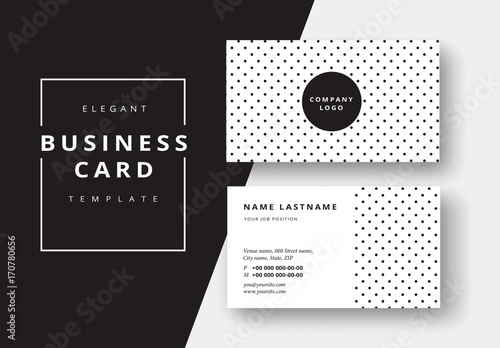 Polka-Dot Business Card Layout Buy this stock template and explore