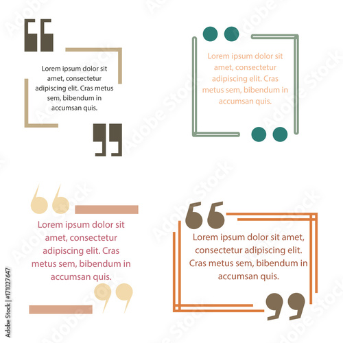 Quote box text template vector block quotation design creative - Buy