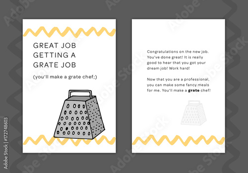 New Job Greeting Card Layout 11 Buy this stock template and explore