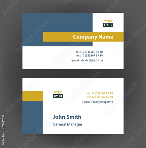 Vector professional designer horizontal personal business cards set