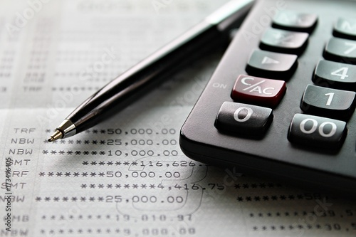 Business, finance, savings, accounting or loan concept  Calculator