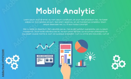 Website and Mobile Analytics Concept Finger Touch for Website Banner